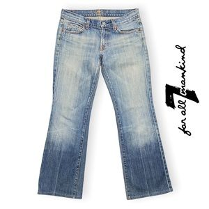 7 For All Mankind Lowrise Bootcut Size 27 Light Blue Jeans